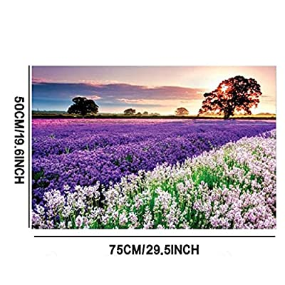 1000 Pieces Jigsaw Puzzle for Adults Kids, Aviat Purple Flower Sea Large Puzzles Wall Art Decor Personalized Gift: Toys & Games