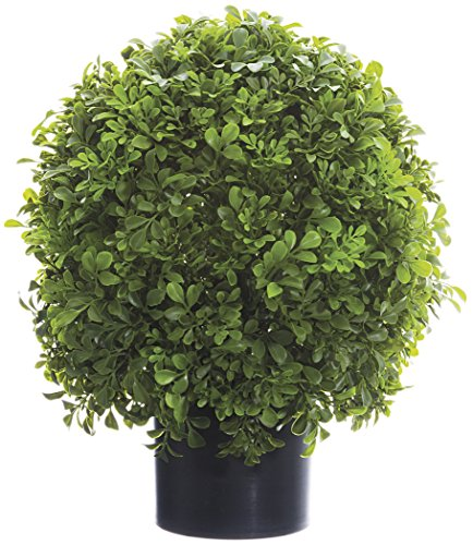 16 Inch High Boxwood Ball Topiary in Pot - Artificial