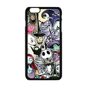 Generic Custom Disney Film The Nightmare Before Christmas Jack Sally Halloween Printed Black Case For Iphone 6 Plus 5.5 Inch 100% Plastic