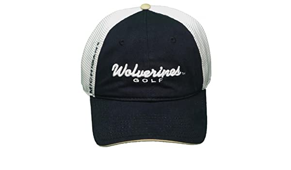University of Michigan Wolverines Mesh Buckle Back Hat 3D Embroidered Cap    Sports Fan Baseball Caps   Sports   Outdoors e5d35007eb49