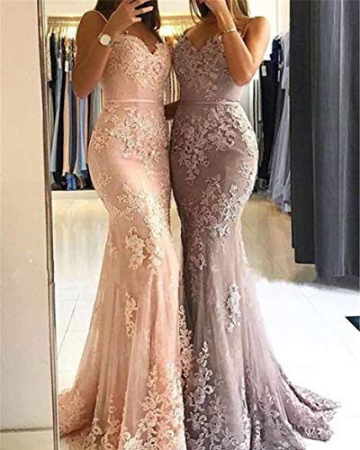 Prom Simple Long Mermaid Picture Color Sweetheart b Neckline Dress Bridesmaid Lace Evening Dress trwtZqA