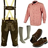 Men's German Bavarian Oktoberfest Costume Trachten Lederhosen Deal (Small Image)