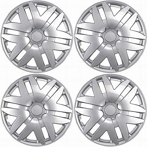 (OxGord Hub-caps for 06-11 Saab 43346 (Pack of 4) Wheel Covers 16