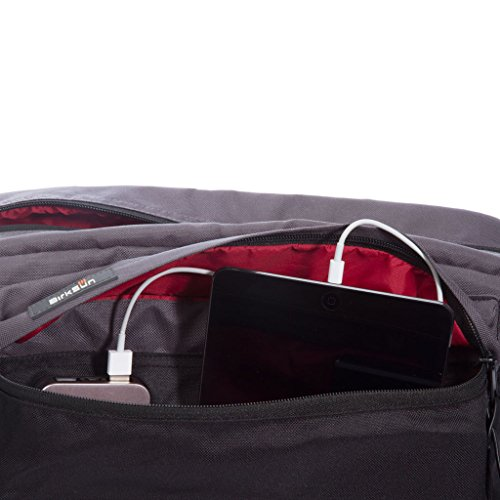 BirkSun Connect Solar Battery Charger Messenger Pack, Black and Red by BirkSun (Image #7)