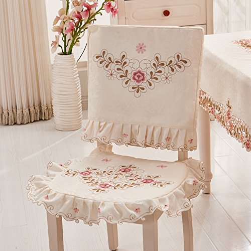 Pca Cover - Rural Simple Fabric Chair cover,Household Kitchen Hotels Dining Decoration Chair cover 1 pc-A