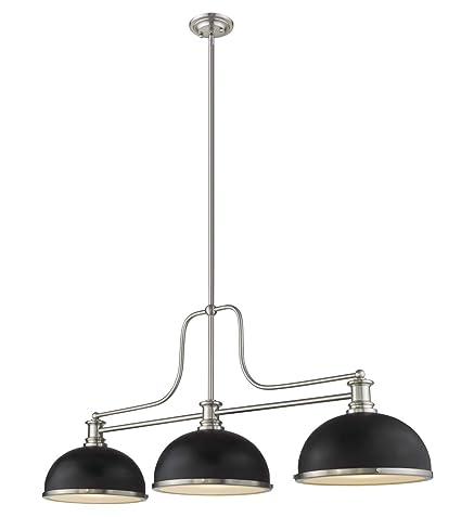 Amazon.com: Z-Lite 725-3BN-D12MB+BN - Lámpara de techo (3 ...