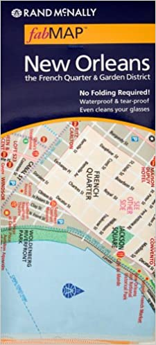 Rand Mcnally Fab Map New Orleans And The French Quarter Garden