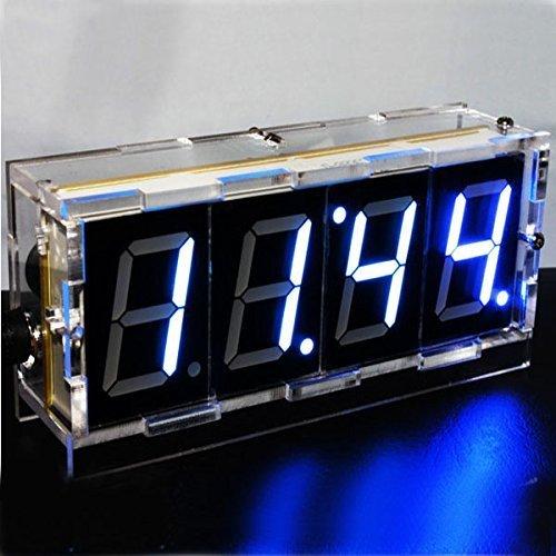 t LED Electronic Clock Kit Large Screen Red Blue LED ()