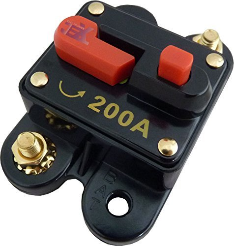 Jex Electronics 200 Amp In-Line Circuit Breaker Stereo/Audio/Car/RV 200A/200AMP Fuse 12V/24V/32V by Jex Electronics