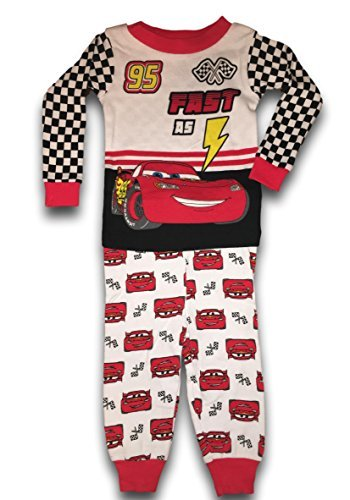 Disney Cars Baby Boys Lightning McQueen Fast As Lightning 2 Pc Long Sleeve Pants Set (12M) - Long Race Boys Sleeve Infant