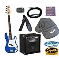 Squier by Fender Precision Bass Starter Pack in Metallic Blue