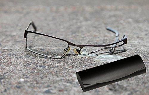 Aluminum Eyeglass Case for Small Frames in Black