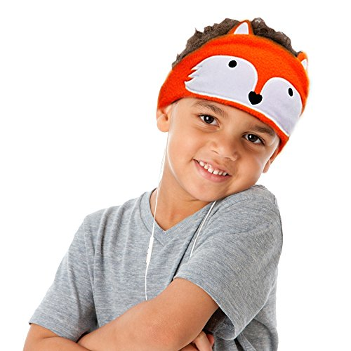 - Kids Headphones, Volume Limiting with Ultra Thin Adjustable Speakers Soft Children Fleece Headband Toddler Headphones for Home and Travel - Fox