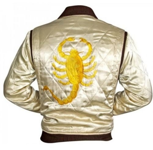 Chaqueta blanca con escorpión dorado bordado: Amazon.es ...