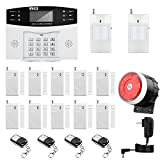 Home Security System, Thustar GSM Alarm System Wireless Security System Kit Remote Control Intelligent LED Display Voice Prompt House Office Business Burglar Alarm Auto Dial 110DB Siren