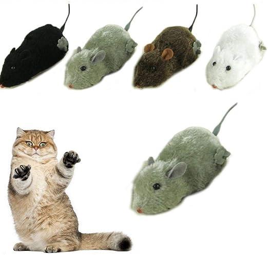 PiniceCore Inalámbrico Mecanismo de Cuerda para el Juguete del ratón Gatos Ratas Rata Felpa Movimiento mecánico Cat Juguetes interactivos Gato Juguete Juguetes Gatito: Amazon.es: Hogar