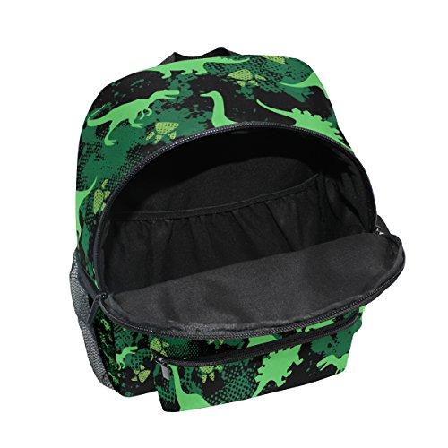School for Cute Girls ZZKKO Camouflage Dinosaur Camo Boy Kids Bag Pre Toddler Kindergarten Backpack zazO0xq