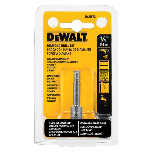 DEWALT Tile Drill Bit, Diamond Tip, 1/4-Inch (DW5572)