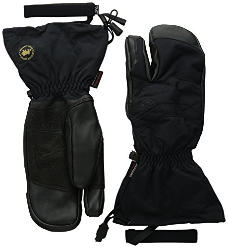 Gordini Men's Elias Gauntlet 3 Finger Gloves, Black, Large