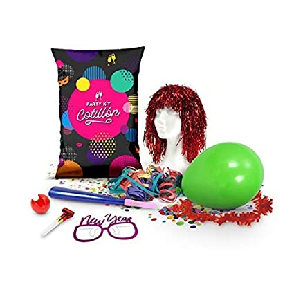 Party Planet Pack 6 Bolsa de Fiesta Carnaval Transparente con 8 Piezas   Peluca b7468412696