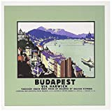 3dRose Budapest Via Harwish River Scene with Boats and the Bridge - Greeting Cards, 6 x 6 inches, set of 6 (gc_171021_1)