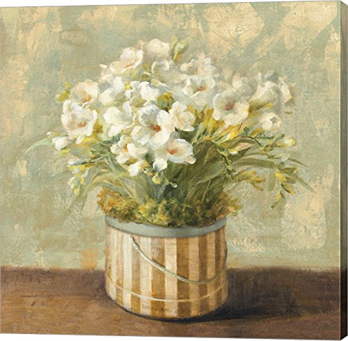 Freesia Canvas (Hatbox Freesia by Danhui Nai Canvas Art Wall Picture, Gallery Wrap, 12 x 12)