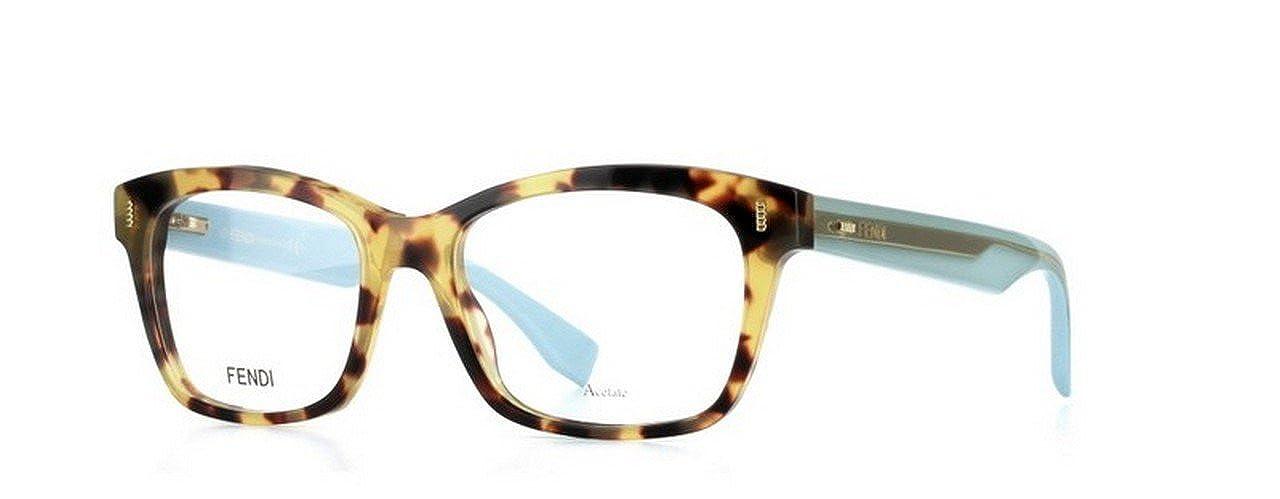 Fendi Brillen Unisex 0027 HK5, Light Tortoise / Light Blue ...