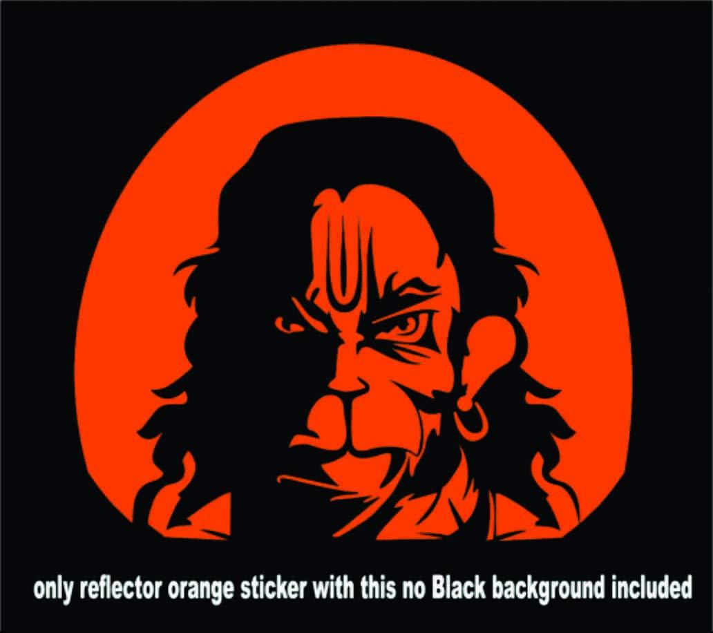 Ss stickers hanuman and jai bajrangbali reflector sticker 5 inch x 4 25 inch amazon in car motorbike