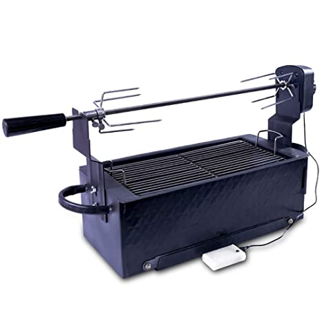 Jian E Parrilla al Aire Libre - Estufa de Cordero asado Automático Completamente rotatorio Carbón eléctrico