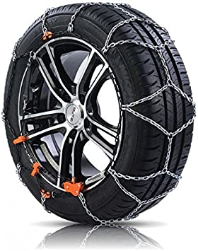 Catene da neve a rombo spessore 9mm per auto pneumatico 185//55R15