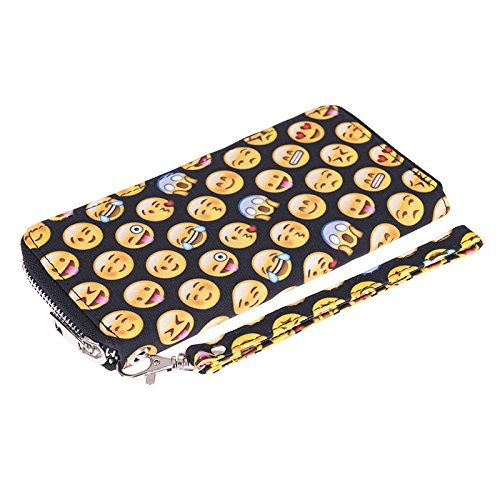 TC Women Emoji Wallet Purse Soft Polyester Clutch for Girls by TC (Image #2)