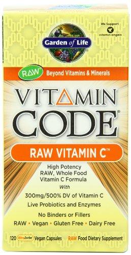 Garden of Life Vitamin Code Raw vitamine C, 120 capsules
