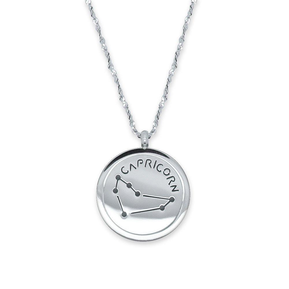 soulcats® Collier signe astrologique 50 cm en acier inoxydable Argent avec emballage cadeau. Horoscope Astrologie Constellation K182_FBA_10