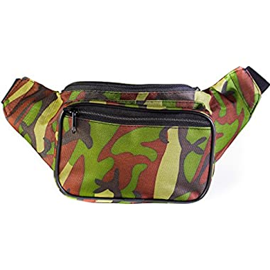 SoJourner Bags Fanny Pack - Camouflage Camo (Green / Brown)