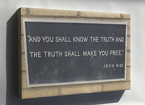Canvas 24x36; John 8-32, Bible Verse