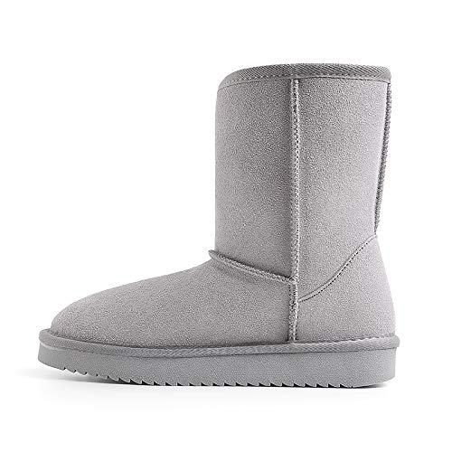 AGECC Schuhe Mit Flachem Boden Winterpeeling Samtschneeschuhe