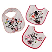 Disney Minnie Mouse 3 Piece Printed Bibs, Hello There