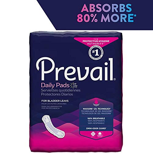 Prevail Bladder Control Pad, Maximum w/Extra Coverage - 13'' - - Case of 156 by Prevail