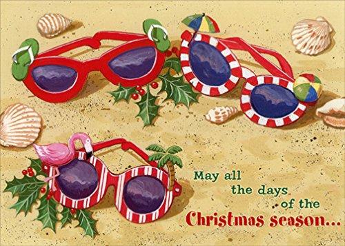 Red Farm Studios Festive Sunglasses in Sand Box of 18 Tropical Christmas - In Sunglasses Sand