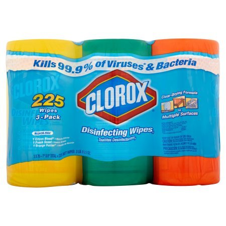 Amazon.com: Clorox Disinfecting Wipes Value Pack, Fresh Scent, Citrus Blend and Orange Fusion, 225 Count with Kleenex Everyday Facial Tissues, ...