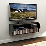 Prepac Black Altus Wall Mounted Audio/Video Console