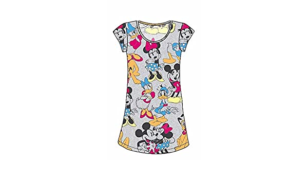 Heather Grey Disney Classic Mickey Mouse and Friends Nightie T Shirt