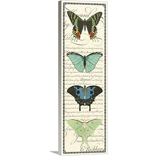 (GREATBIGCANVAS Gallery-Wrapped Canvas Entitled Butterfly Prose Panel II by Vision Studio 16