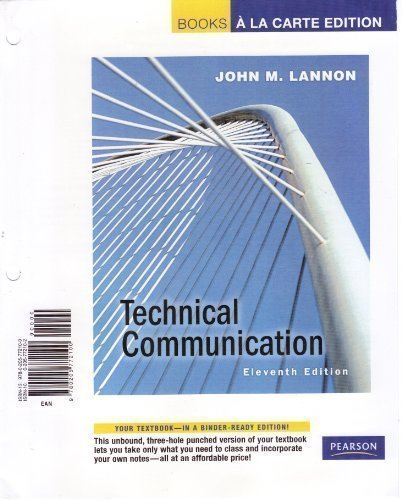 Technical Communication (Books a la Carte)