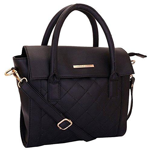 Lapis O Lupo Onyx Damen Handtasche Schwarz Designer Satchel Taschen mit Multi Pocket