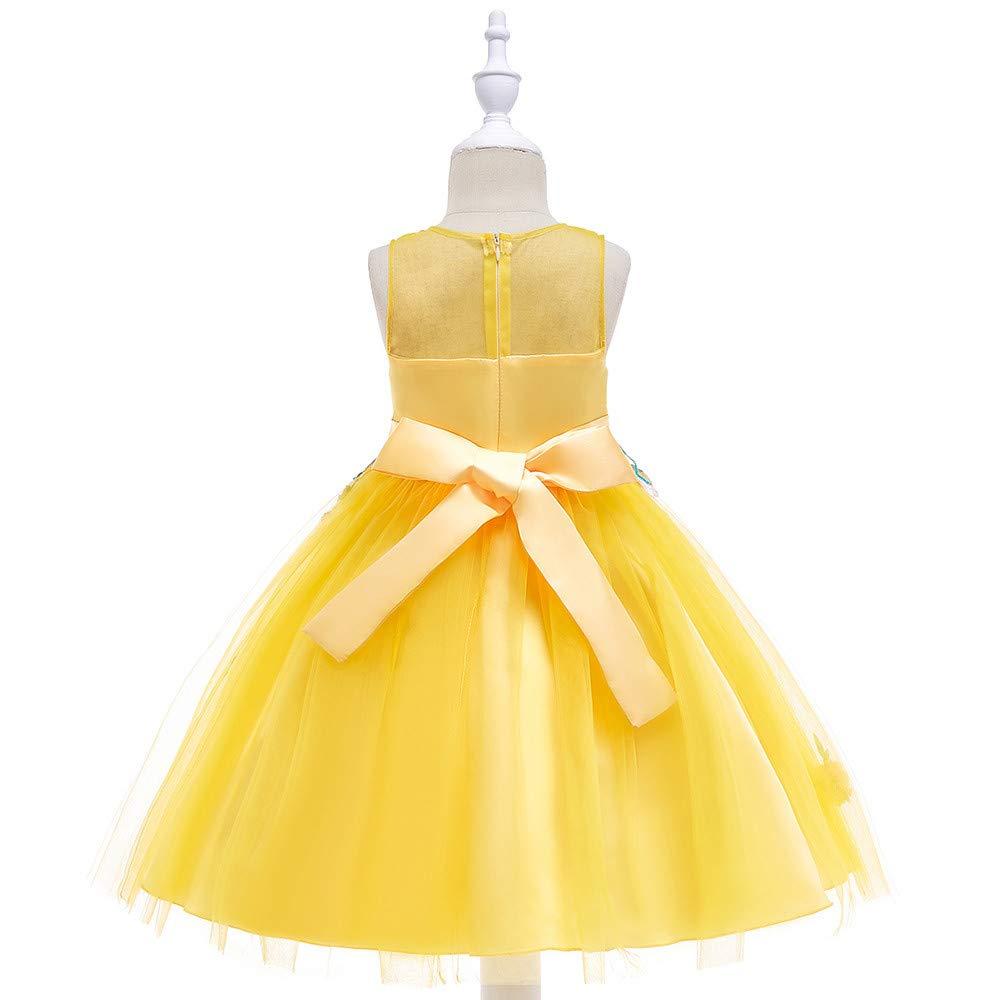 2e95612cddd1 Vestito da Cerimonia Nuziale del Partito di Compleanno Abito da Spettacolo  Principessa Floreale della neonata