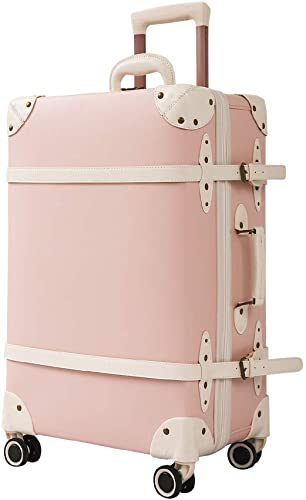 Cute Vintage Trunk Luggage Unisex Fashion Belt replaced Retro Suitcase