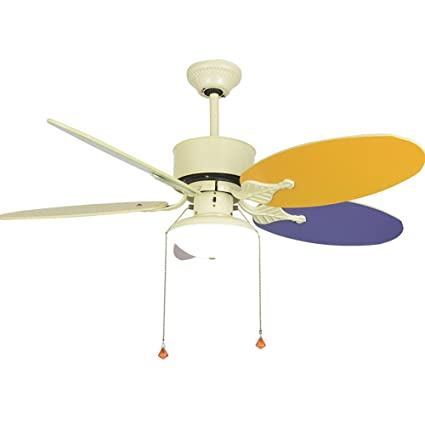 Tropicalfan Kids Modern Ceiling Fan With One Light Cover Lampshade Indoor Bedroom  Childrenu0027s Room 5 Wood