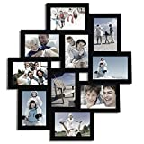Adeco Decorative Black Wood Wall Hanging Collage Picture Photo Frame, 3.5 x 5-Inch