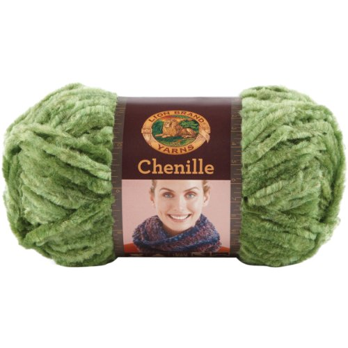 Lion Brand Yarn 531-130 Chenille Yarn, Emerald (Yarn Yard 110)